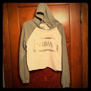 """Vibin"" Cropped Sweatshirt NWOT"